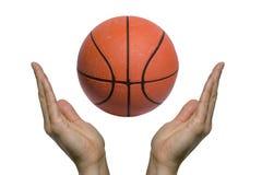 篮球祈祷 图库摄影