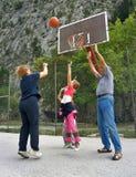 篮球祖父项作用 库存图片