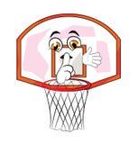篮球篮动画片 免版税库存图片