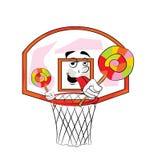 篮球篮动画片 库存照片