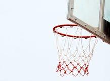 篮球篮和网 免版税库存图片