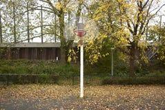 篮球篮在秋天 免版税图库摄影