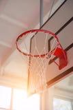 篮球篮子 图库摄影