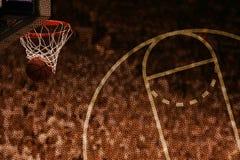 篮球篮模式 库存照片