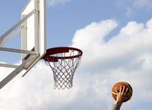 篮球篮 免版税库存照片