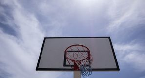 篮球篮backview 库存图片