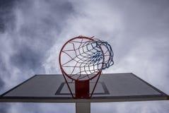 篮球篮backview 库存照片