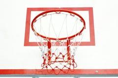 篮球红色箍 免版税图库摄影
