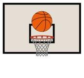 篮球网和蓝球板 免版税库存图片