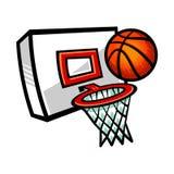 篮球网 免版税库存照片