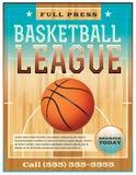 篮球联盟飞行物 免版税库存图片