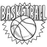 篮球草图 向量例证