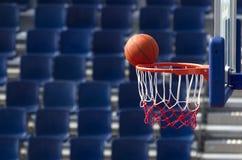 篮球行动 免版税库存图片