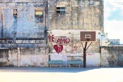 篮球街道现场 免版税库存照片