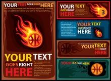 篮球设计模板 库存图片