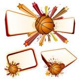 篮球设计要素 库存照片