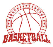 篮球设计-葡萄酒 免版税库存照片
