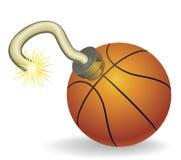 篮球读秒例证 免版税库存照片