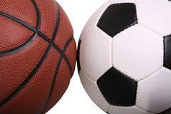 篮球足球 免版税库存图片