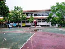 篮球领域 图库摄影