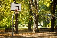 篮球领域 免版税库存照片