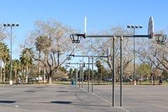 篮球领域 免版税库存图片