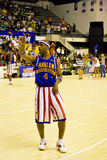 篮球飞行世界观光旅行家哈林lang时间 免版税库存图片