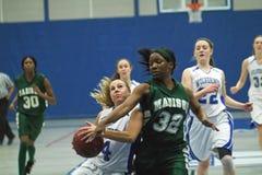 篮球高中大学运动代表队 库存照片