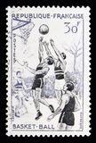 篮球,体育serie,大约1956年 库存图片
