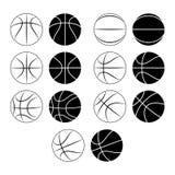 篮球,球剪影 图库摄影