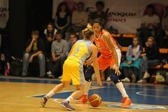篮球candace euroleague parker 免版税图库摄影