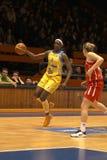 篮球delisha琼斯・米尔顿星形 免版税库存照片