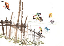 篱芭和动物 免版税图库摄影