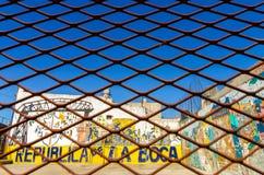 篱芭和街道画 免版税图库摄影