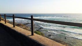 篱芭在兰萨罗特岛在度假 免版税库存照片