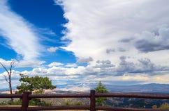 篱芭在布赖斯峡谷NP -美国 免版税库存图片