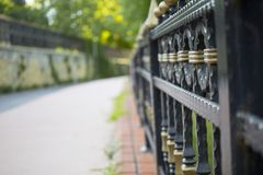篱芭在庭院里 图库摄影