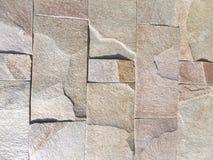 篱芭灰色棕色石墙纹理  库存图片
