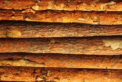 篱芭由杉木板条做成作为背景 库存图片
