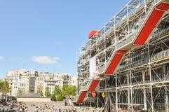 篷皮杜中心在巴黎 免版税库存图片