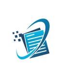 簿记商标设计1传染媒介业务保险摘要 免版税库存图片