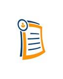 簿记抽象业务保险摘要 免版税库存照片