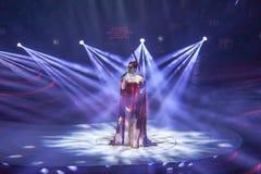 米丽娅姆Yeung音乐会2015年 免版税库存照片