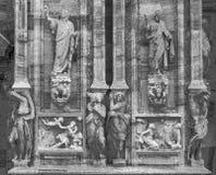 米兰主教座堂中央寺院二米兰细节 免版税库存照片