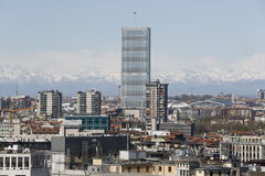 米兰全景有新的地平线的 免版税库存照片
