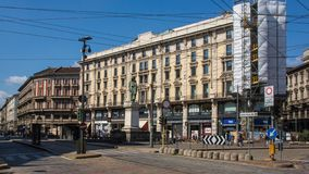 米兰历史的中心建筑学 库存照片