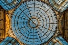 米兰圆顶场所维托里奥Emanuele II 免版税库存图片