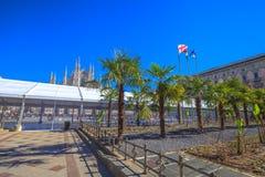 米兰圆顶棕榈  免版税库存照片