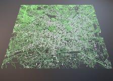 米兰地图,卫星看法,商展 免版税库存图片
