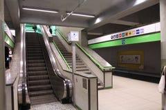 米兰地铁 免版税库存图片